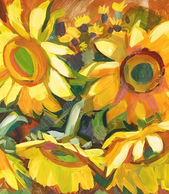 Stunning Paintings of Bright Sunflowers
