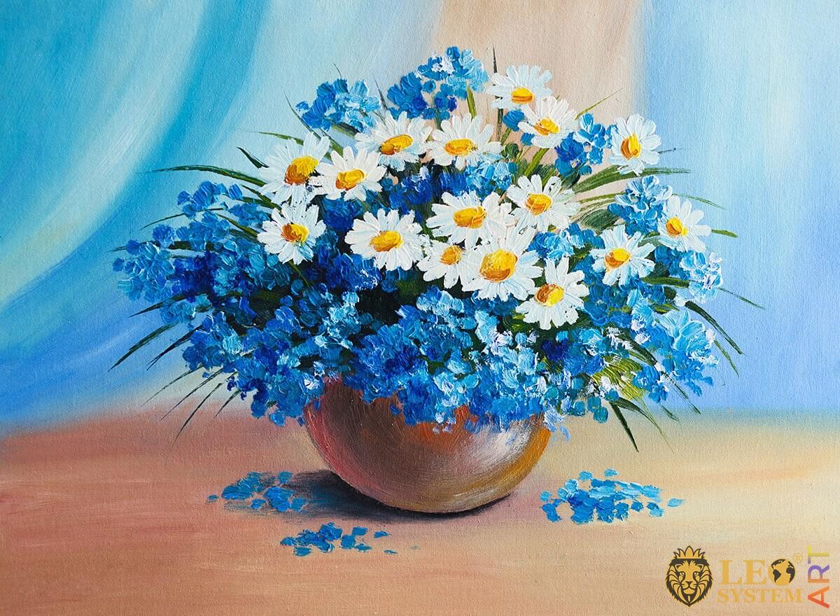 Original painting spring flowers
