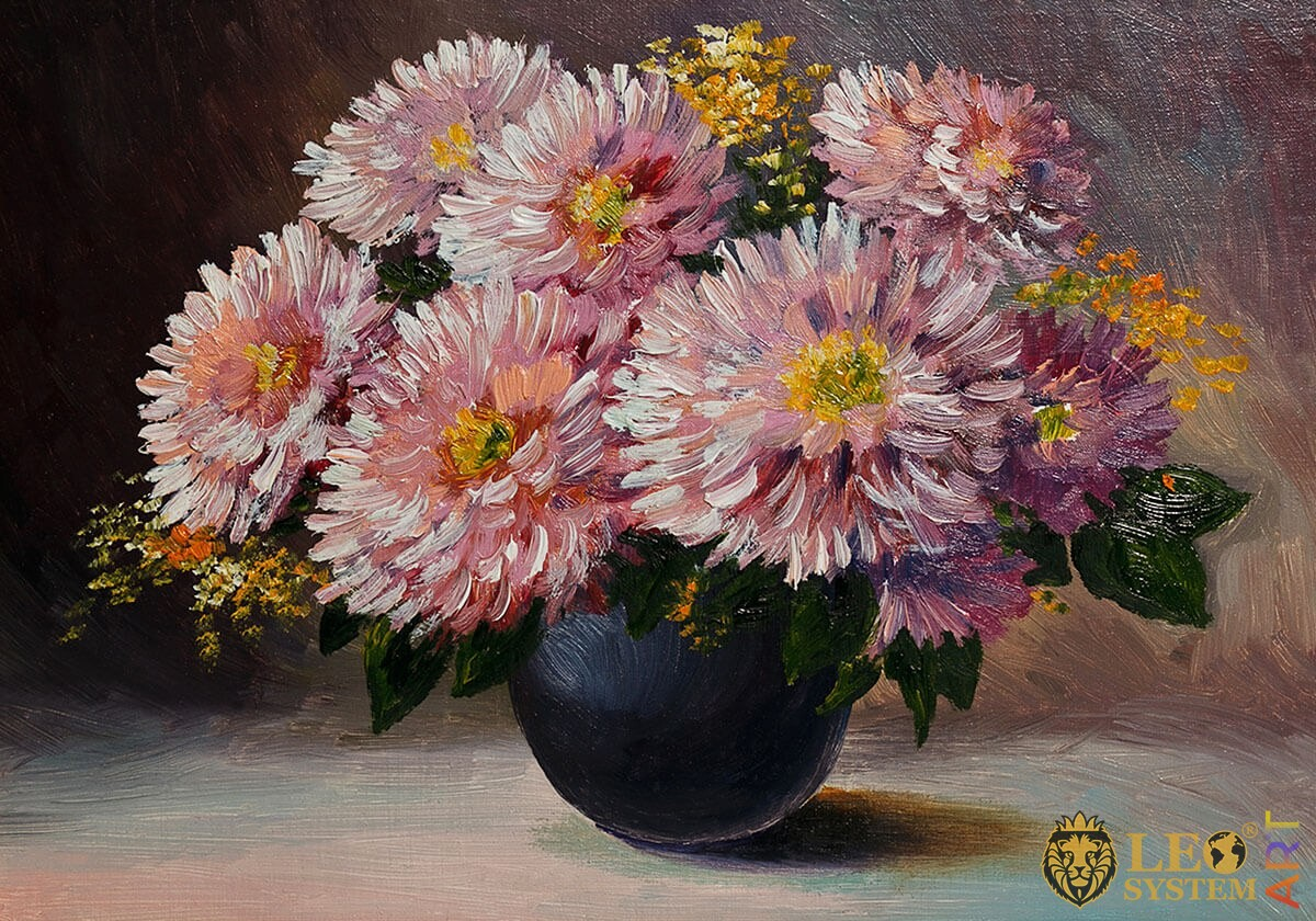 Painting bouquet of spring flowers
