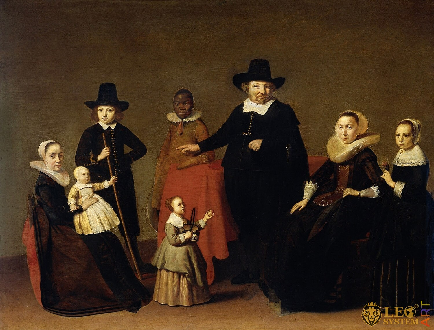 Family Group with a Black Man, Artist: Willem Cornelisz Duyster, 1631-1633, Amsterdam, Netherlands, Original painting