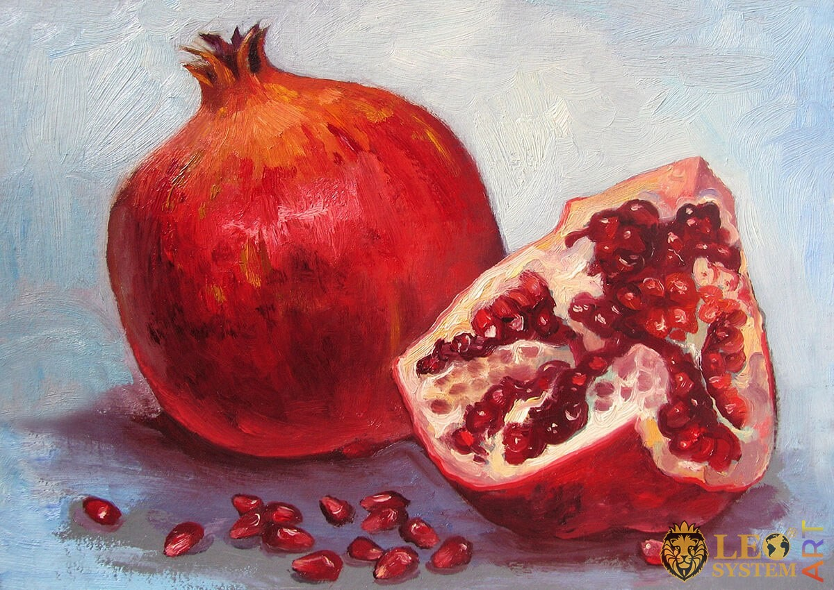 Original painting ripe garnet