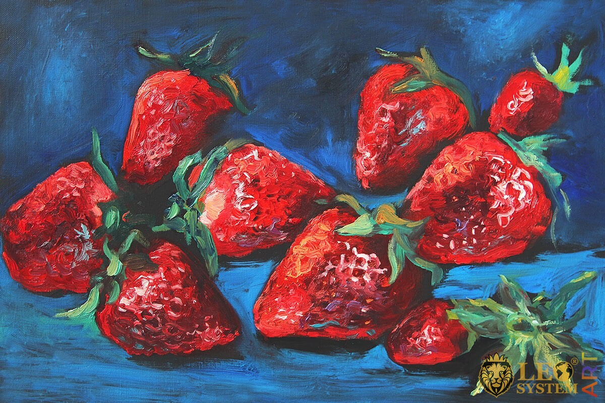 Original painting with strawberries