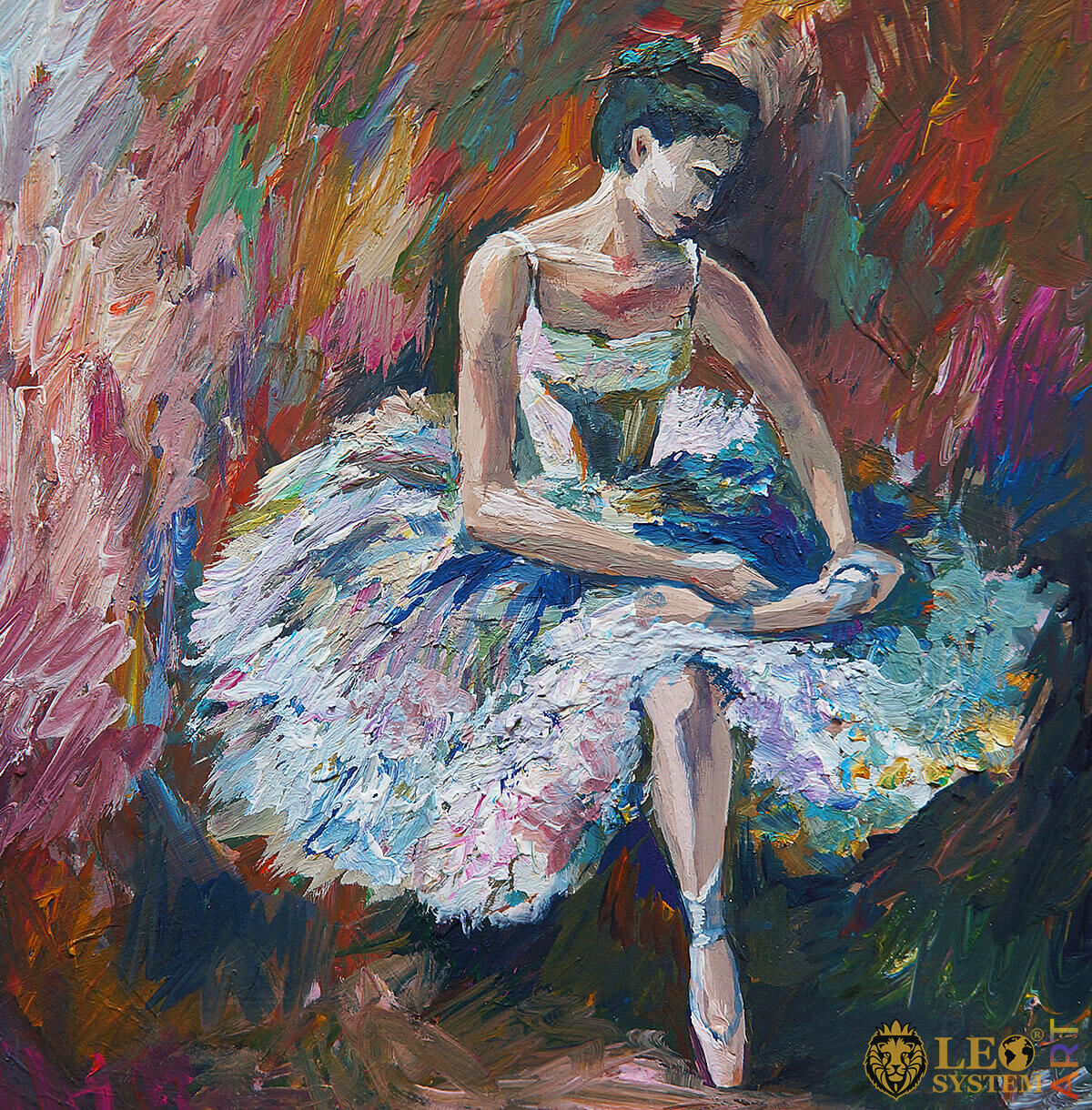 Painting with a cute ballerina