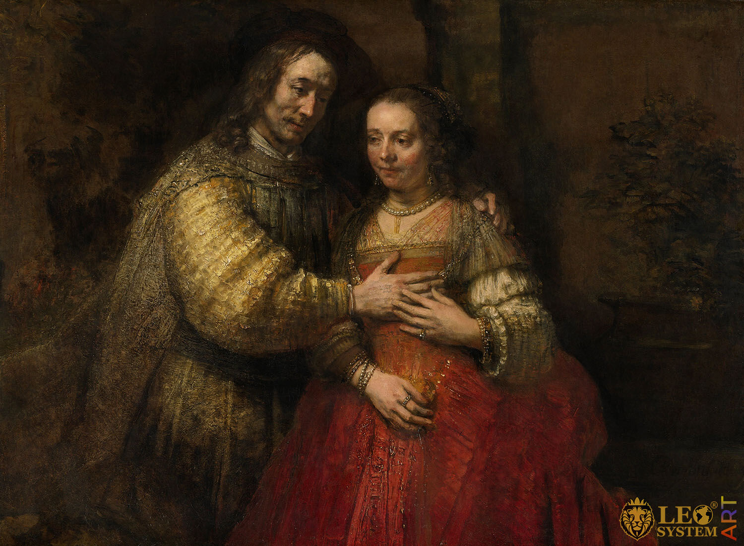 Isaac and Rebecca, known as 'The Jewish Bride', Artist: Rembrandt van Rijn, 1665-1669, Amsterdam, Netherlands, Original painting