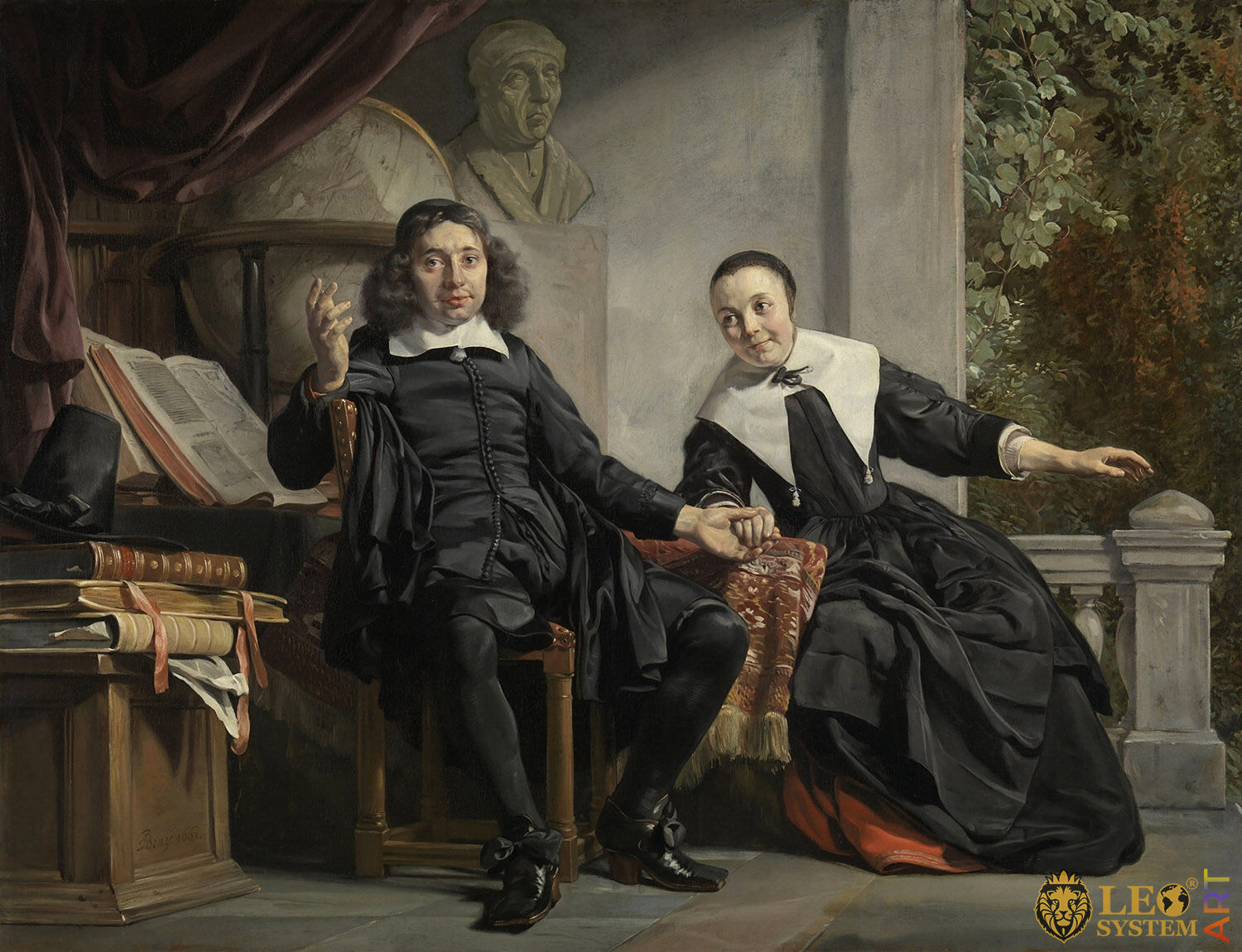 Portrait of Abraham Casteleyn and his Wife, Margarieta van Bancken, Artist: Jan de Bray, 1663, Amsterdam, Netherlands, Original painting
