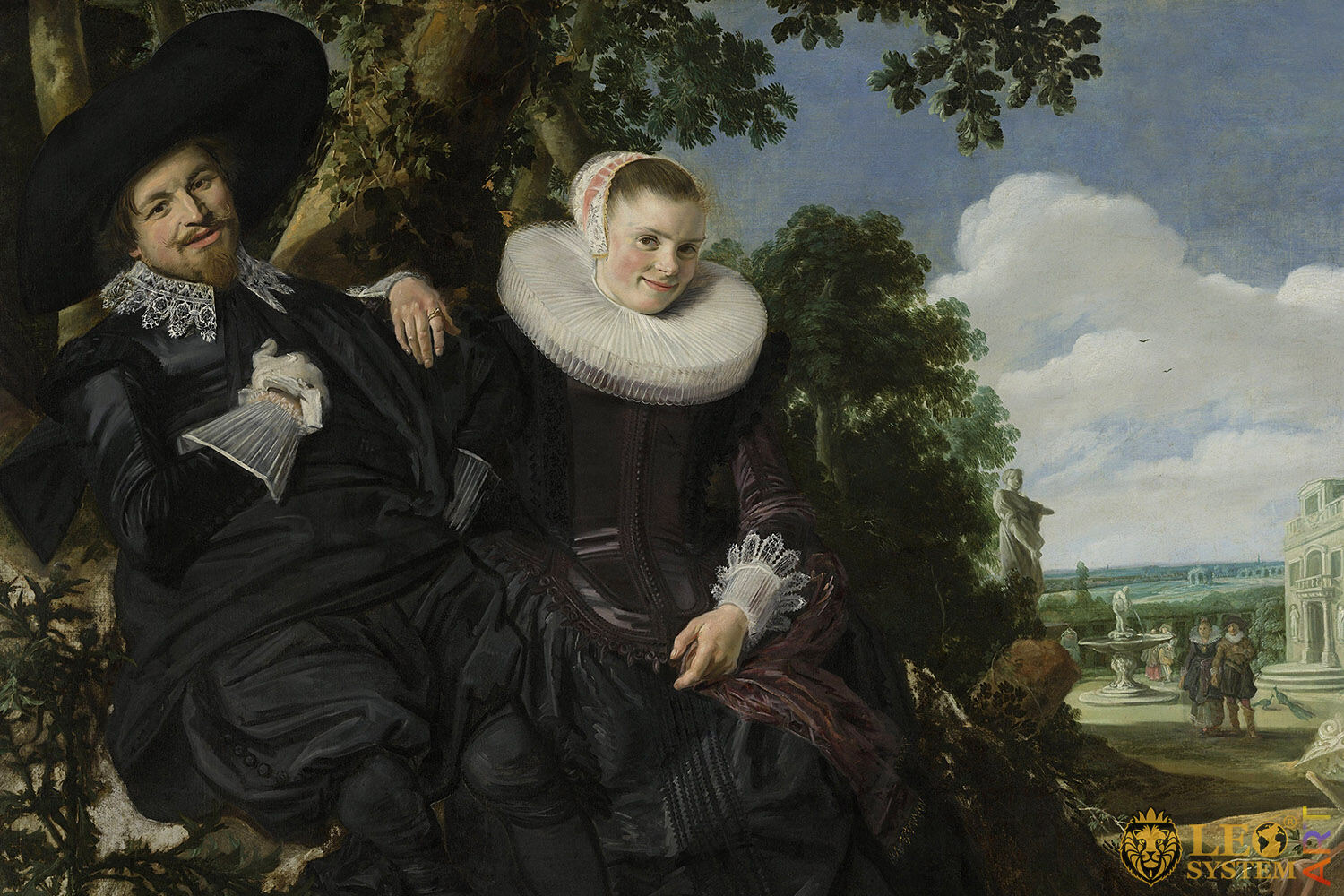 Marriage Portrait of Isaac Massa and Beatrix van der Laen, Original painting