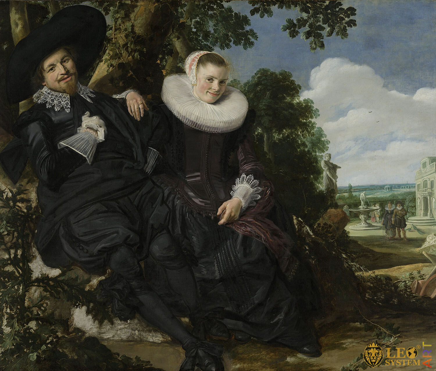 Marriage Portrait of Isaac Massa and Beatrix van der Laen, Artist: Frans Hals, 1622, Amsterdam, Netherlands, Original painting