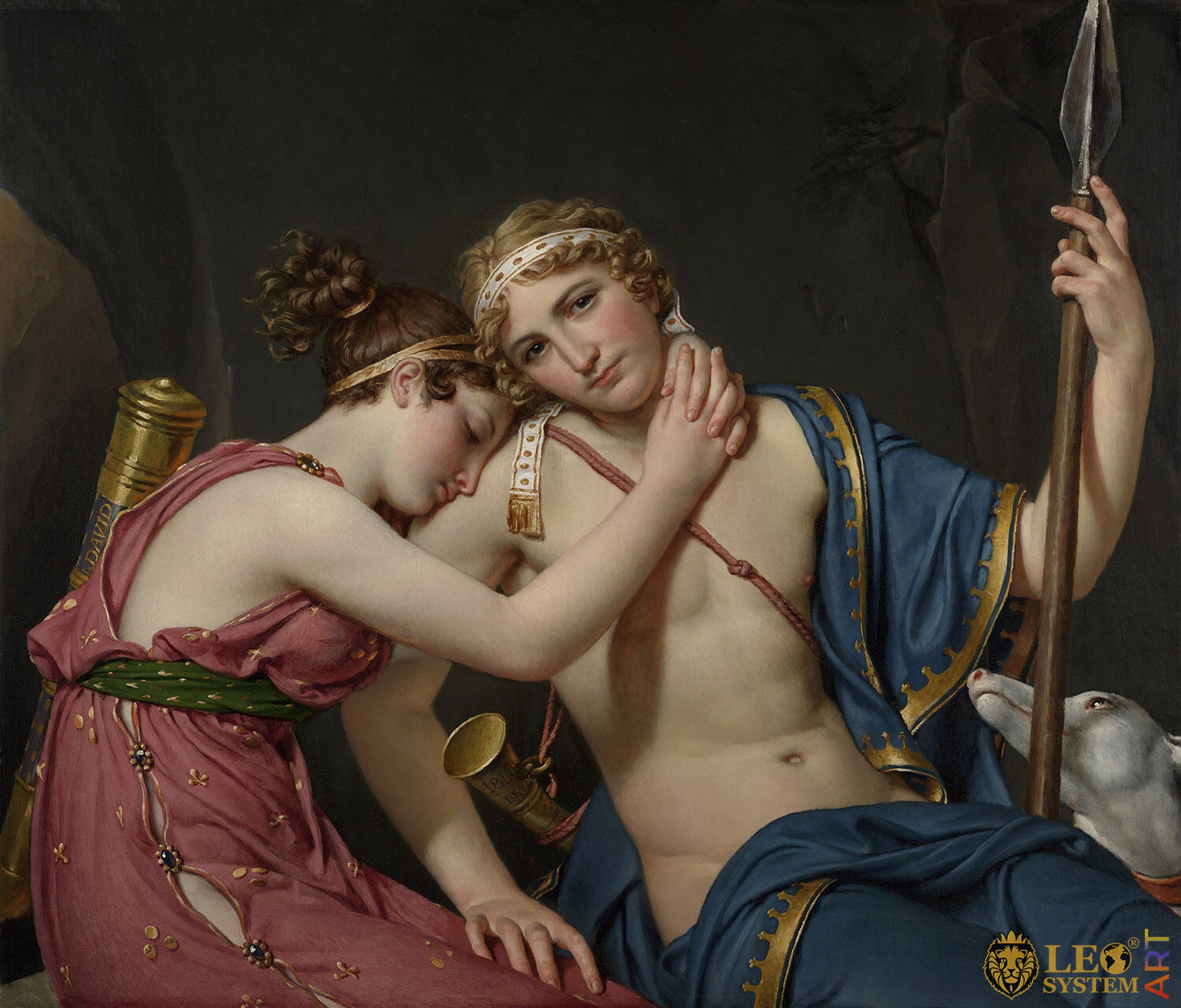 The Farewell of Telemachus and Eucharis, Artist: Jacques-Louis David, 1818, European paintings