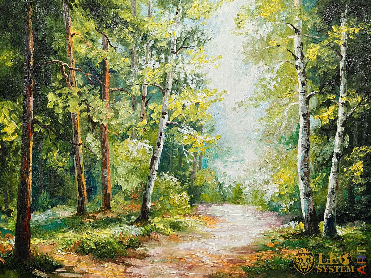 Wonderful forest landscape, original painting