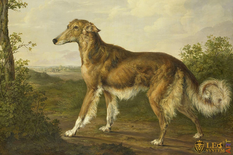 Siberian Greyhound, Original painting