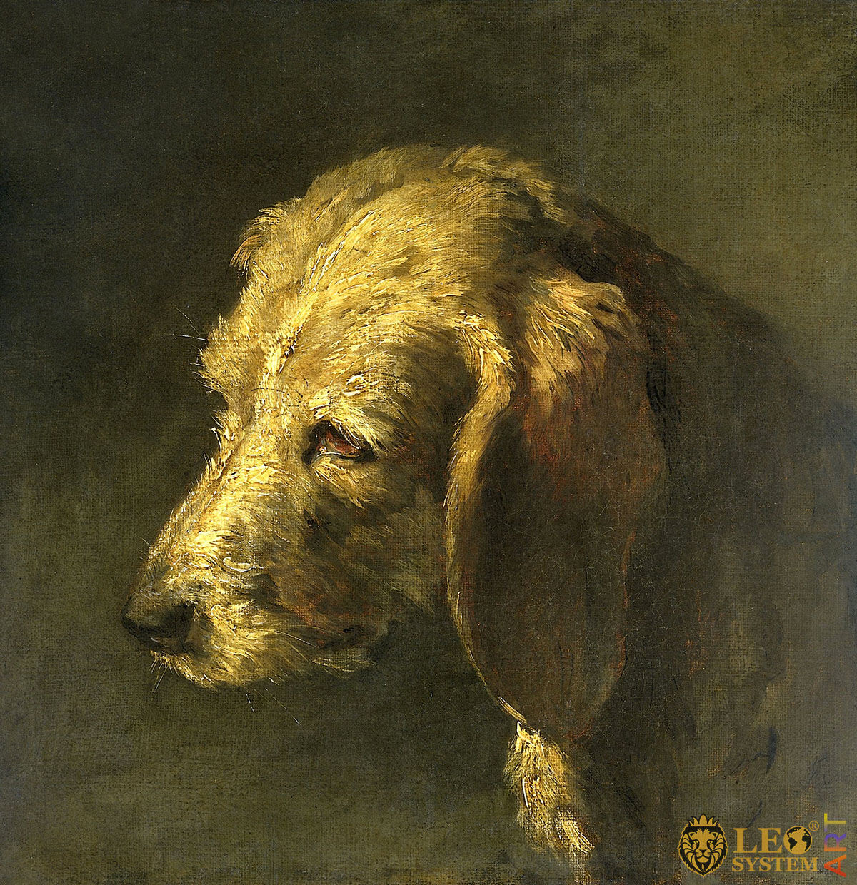 Head of a Dog, Artist: Nicolas Toussaint Charlet, 1820-1845, French Painting