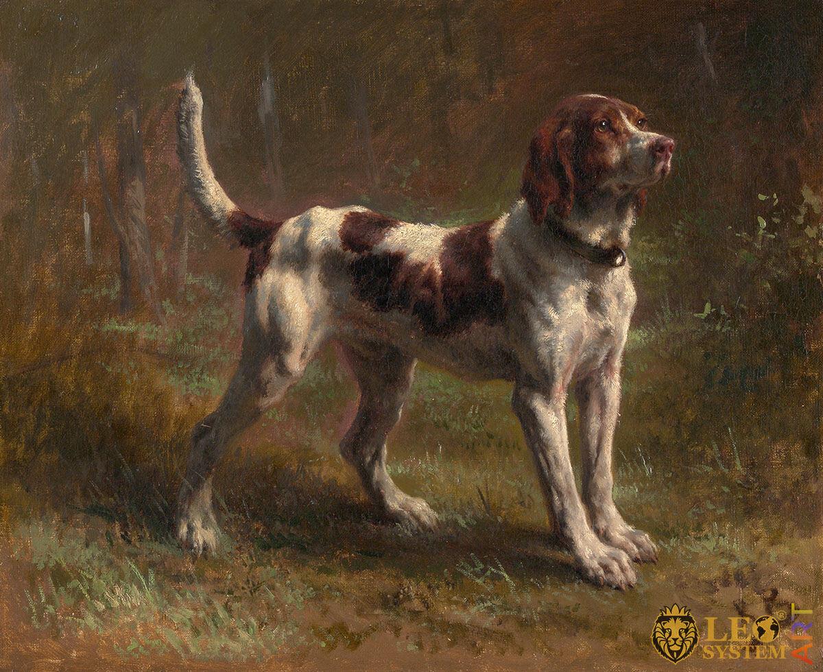 A Limier Briquet Hound, Artist: Rosa Bonheur, 1856, French Painting