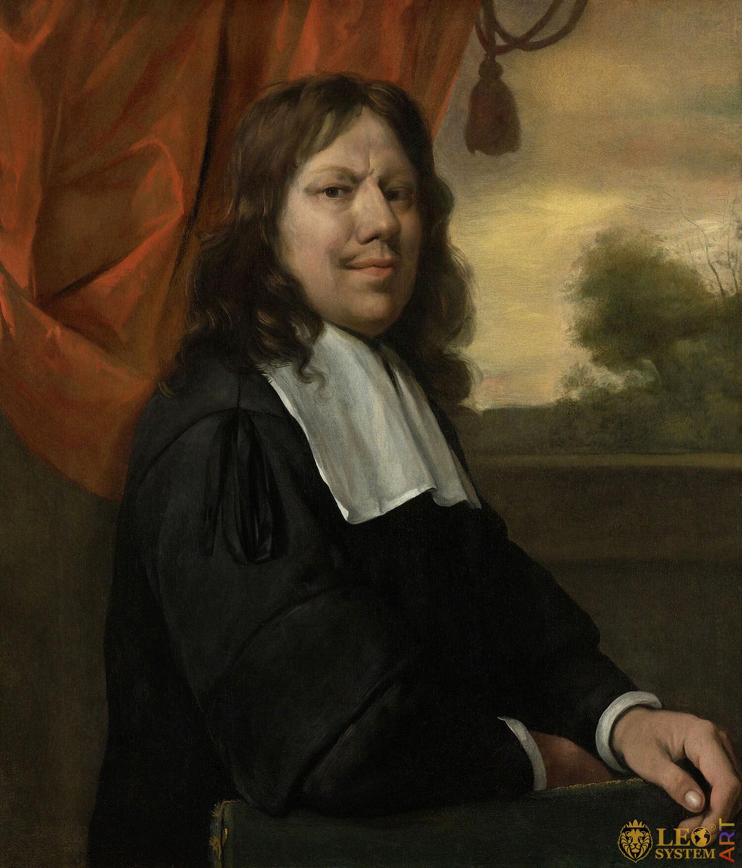 Self-Portrait, Jan Steen, Painter: Jan Havickszoon Steen, 1670, Amsterdam, Netherlands, Original painting