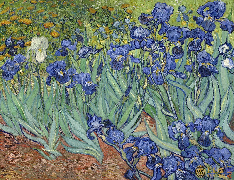 Irises, Painter: Vincent van Gogh, 1889, Dutch Painting, Original painting