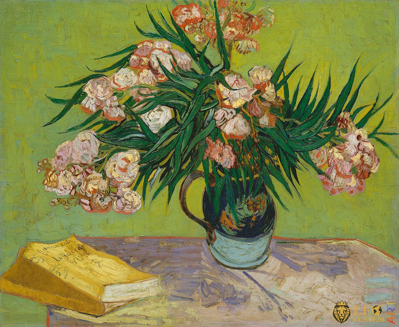 Oleanders, Painter: Vincent van Gogh, 1888, Dutch Painting, Original painting