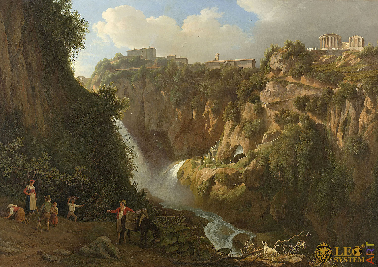 The Waterfall at Tivoli, Painter: Abraham Teerlink, 1824, Dutch Painting, Original Painting