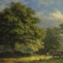 View in the Bentheim Forest, George Andries Roth, Original Painting
