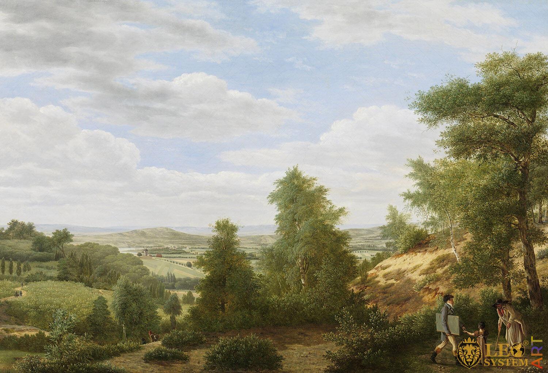 View of the Valley of Montmorency near Saint-Leu-la-Foret, France, Painter: Pieter Rudolph Kleijn, 1808, Dutch Painting, Original Painting