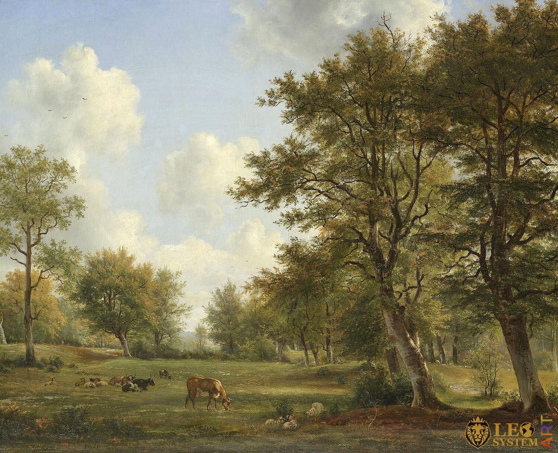 Landscape near Hilversum, Painter: George Jacobus Johannes van Os and Pieter Gerardus van Os, 1820-1839, Dutch Painting, Original Painting
