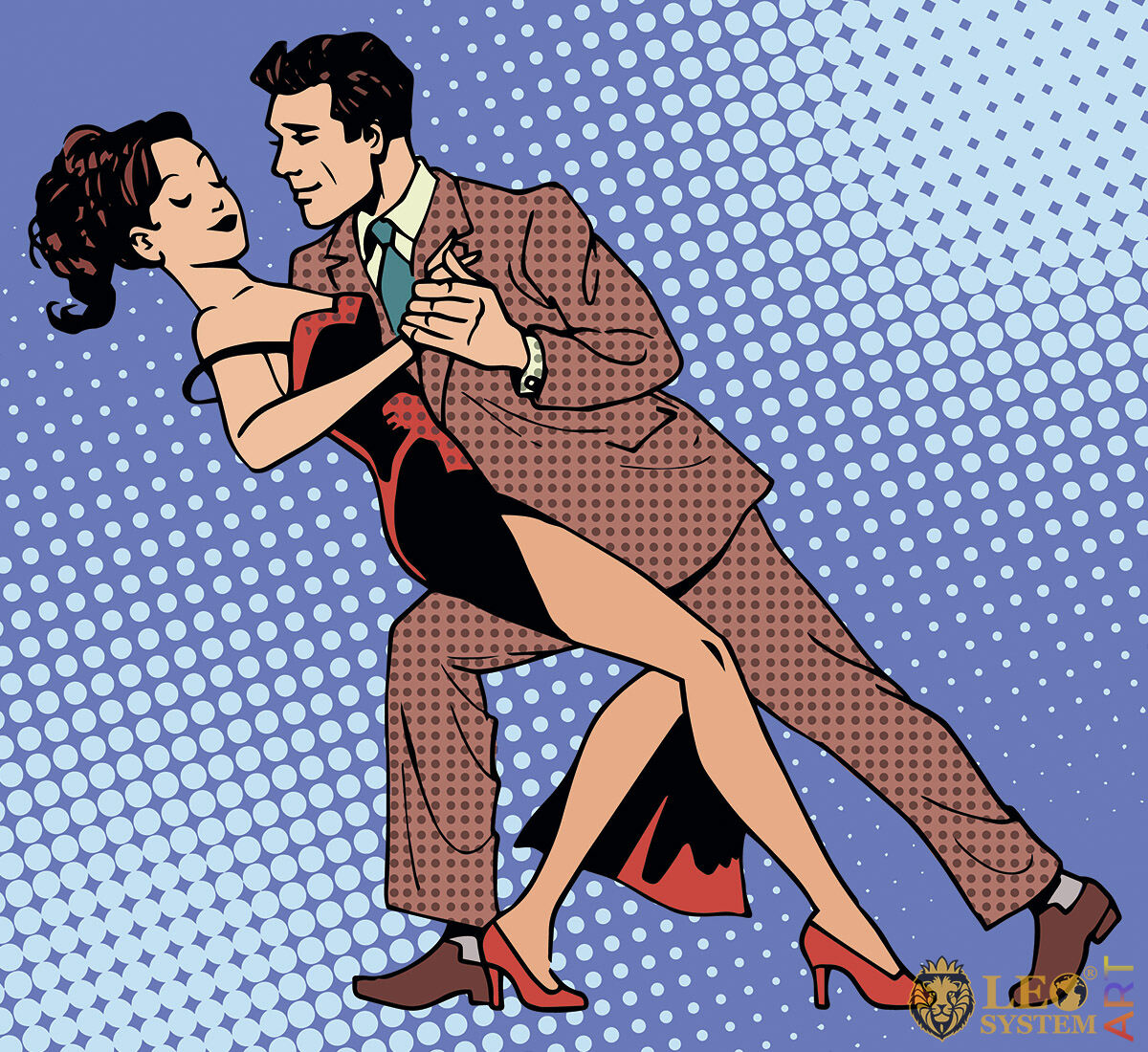 Gorgeous dancing couple