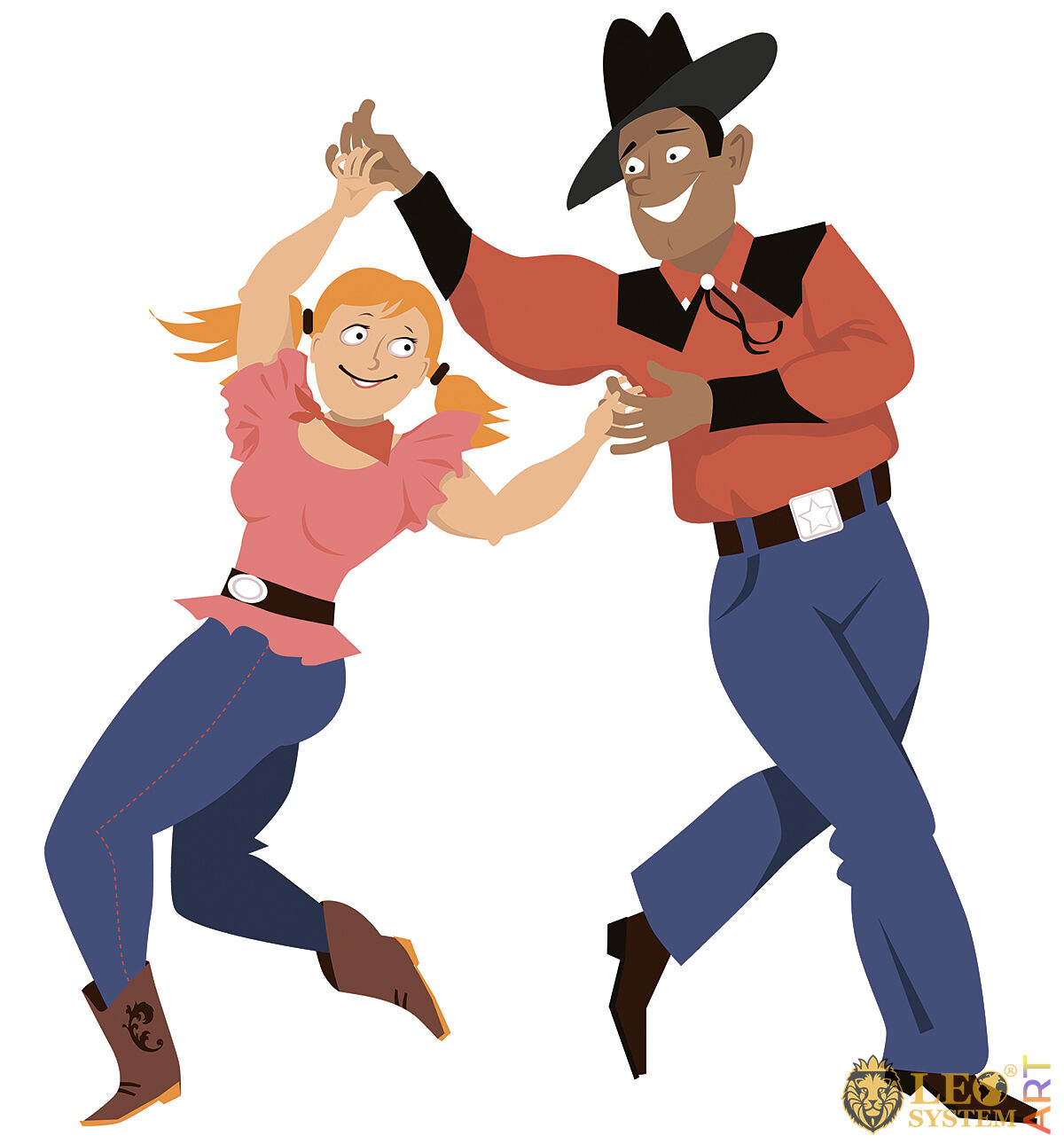 Picture of a funny couple dancing
